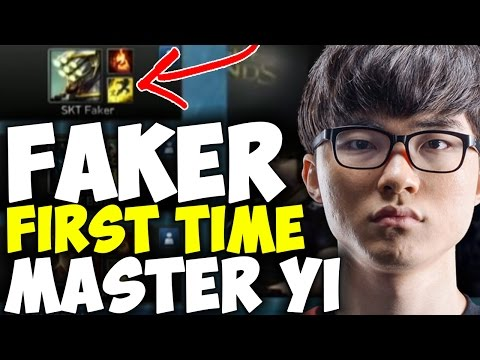 Faker First Game With Master Yi In Professional Game! | SKT