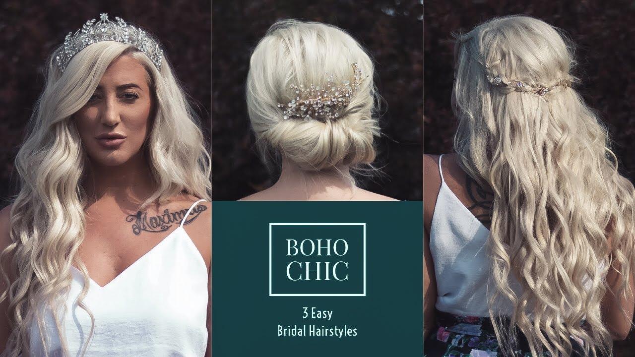 Diy 3 Easy Boho Bridal Hairstyles