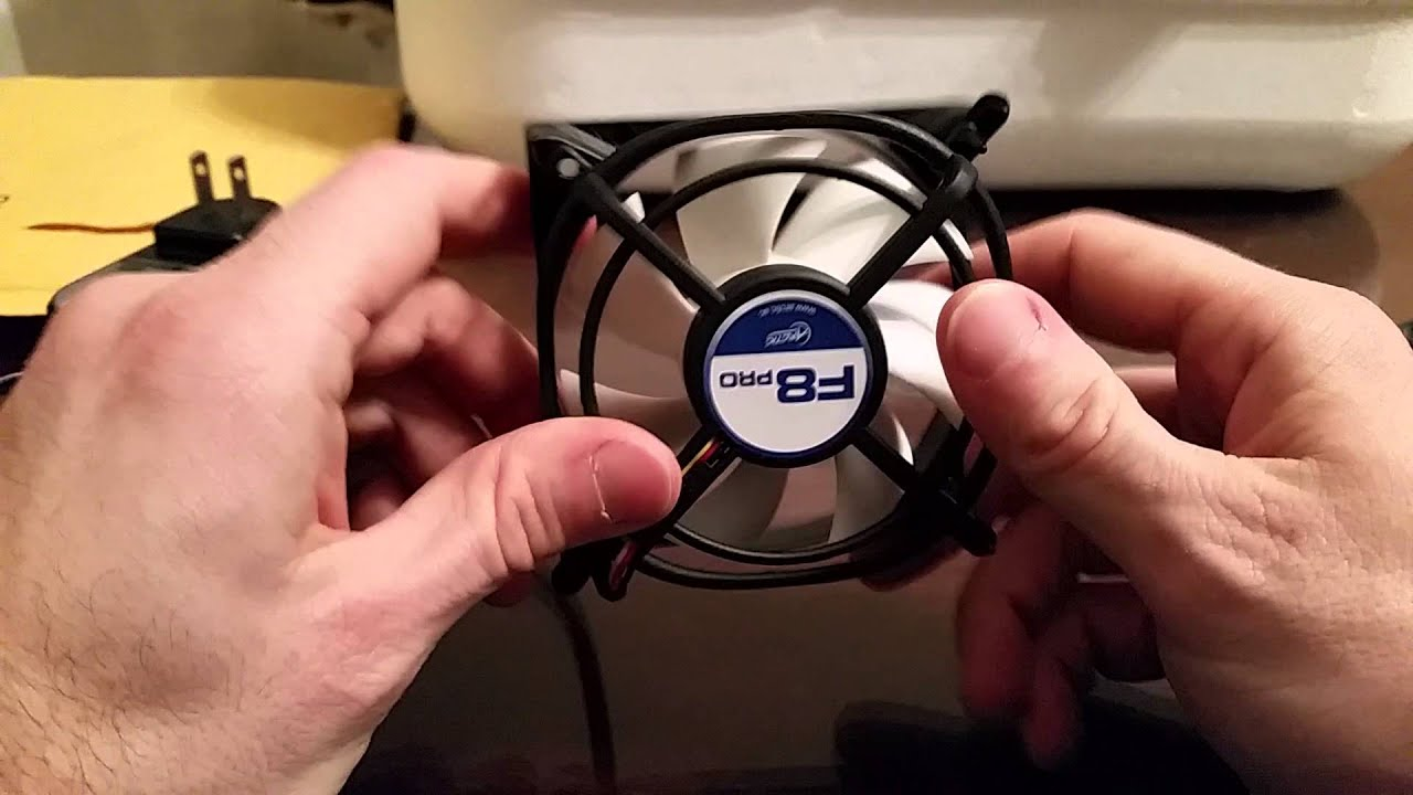 wire a computer fan to run on wall power for use in an incubator [ 1280 x 720 Pixel ]