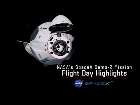 SpaceX DM-2 Flight Day Highlights - May 31, 2020