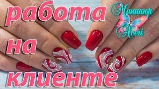 Красный маникюр 2018. Геометрический дизайн ногтей