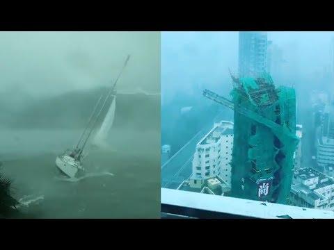 Typhoon Mangkhut in Hong Kong