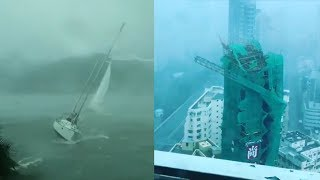 Typhoon Mangkhut in Hong Kong