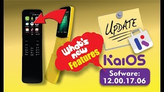 Nokia 8110 4g / KaiOS Updated [V 20.00.17.06] / New Features
