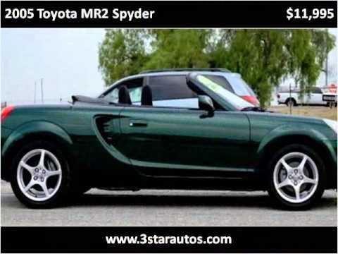 2005 Toyota MR2 Spyder Used Cars Colton CA