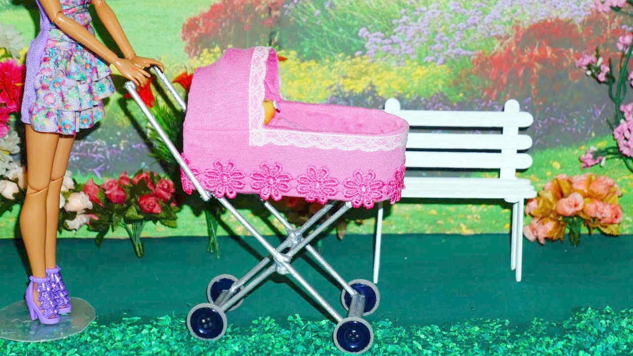 How to make a baby stroller #2 for doll (Monster High, Barbie, etc ...