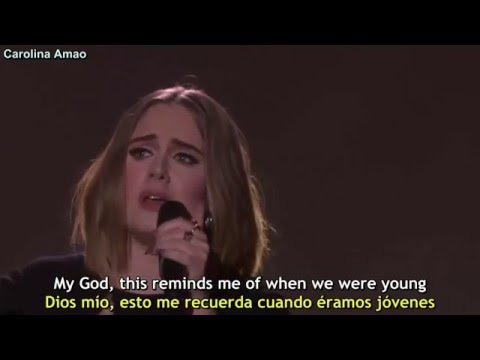 Adele - When We Were Young Lyrics + Sub Español