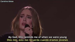 adele   when we were young lyrics sub español