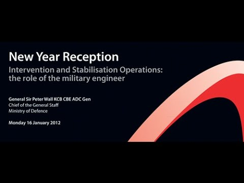 Academy New Year Lecture 2012 with General Sir Peter Wall -