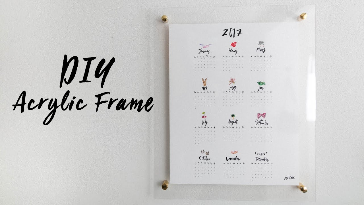 Diy acrylic frame calendar and whiteboard youtube solutioingenieria Image collections