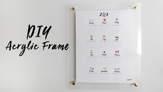 DIY Acrylic Frame Calendar and Whiteboard