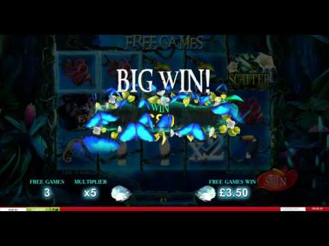 Secrets Of The Amazon Slot (Playtech) - Freespins Feature - 2 Big Wins