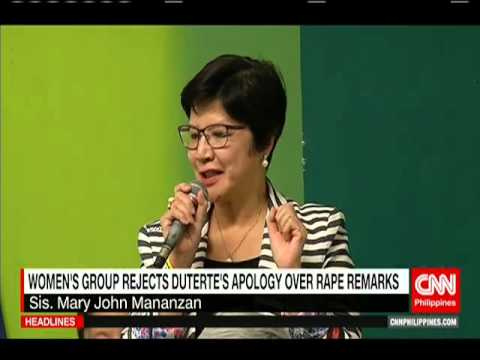 Women's group rejects Duterte's apology over rape remarks