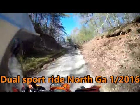 1/14/2016 North GA Forest Service Roads Part 1 on a 2016 350 EXC-F