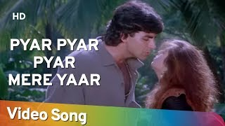 Pyar Pyar Pyar Mere Yaar (HD) | Suhaag (1994) | Akshay Kumar | Nagma | Hindi Romantic Song