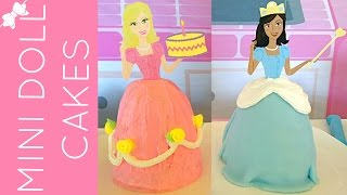 How To Make Mini Cereal Treat Princess Doll Cakes // Lindsay Ann Bakes