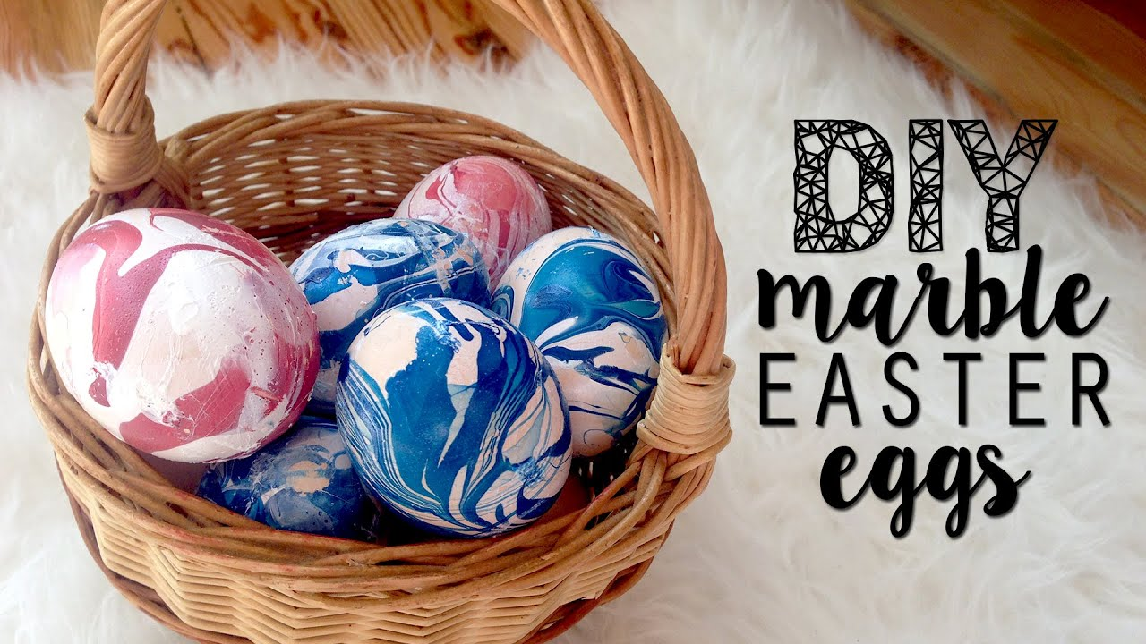Diy marble look easter eggs decoration youtube negle Choice Image