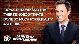 seth s favorite jokes of the week donald trump on equality gay star wars characters