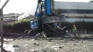 Metro Expo Line drilling of large hole for foundation -- Part 1