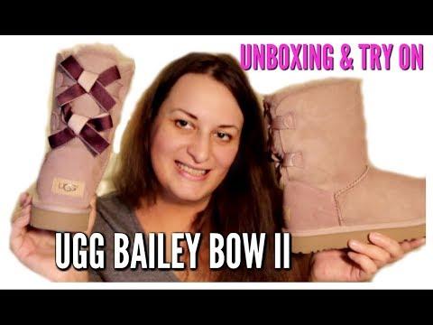 UGG AUSTRALIA BAILEY BOW SHIMMER II DUSK UNBOXING