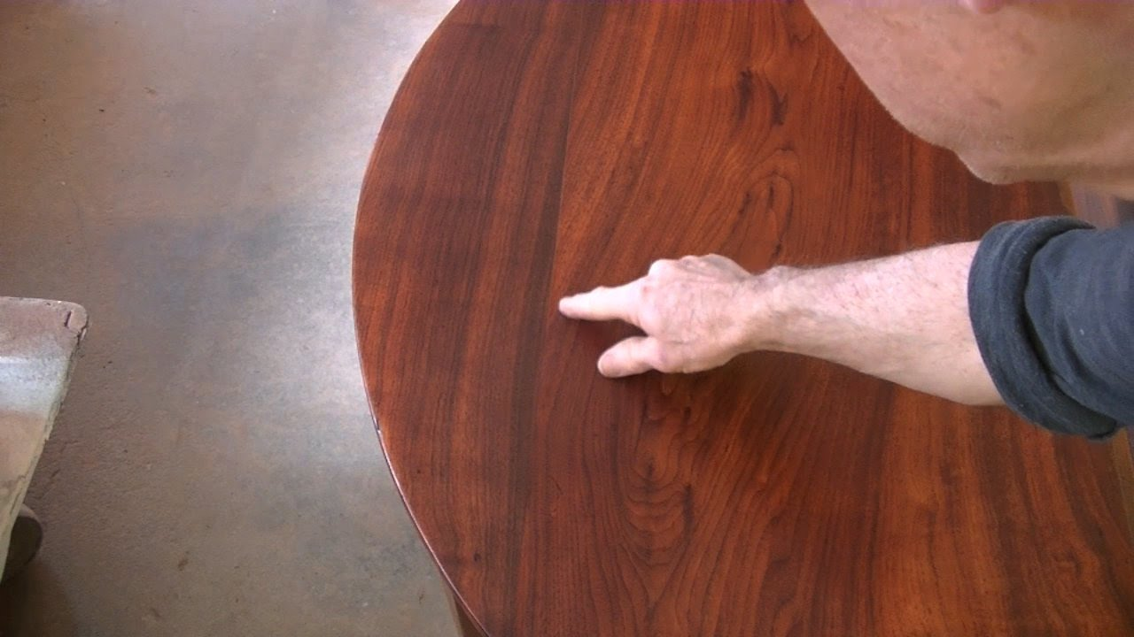 Etonnant Repairing A Round Table Top   Thomas Johnson Antique Furniture Restoration