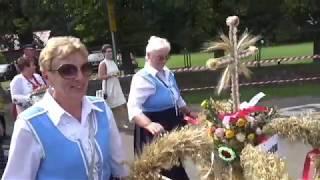 Dożynki gmniny Kłodzko 2019. Wieńce dożynkowe i korowód dożynkowy 25 sierp. 2019 r.