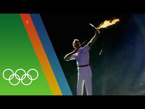 Barcelona 1992 Olympic Torch Lighting   Epic Olympic Moments