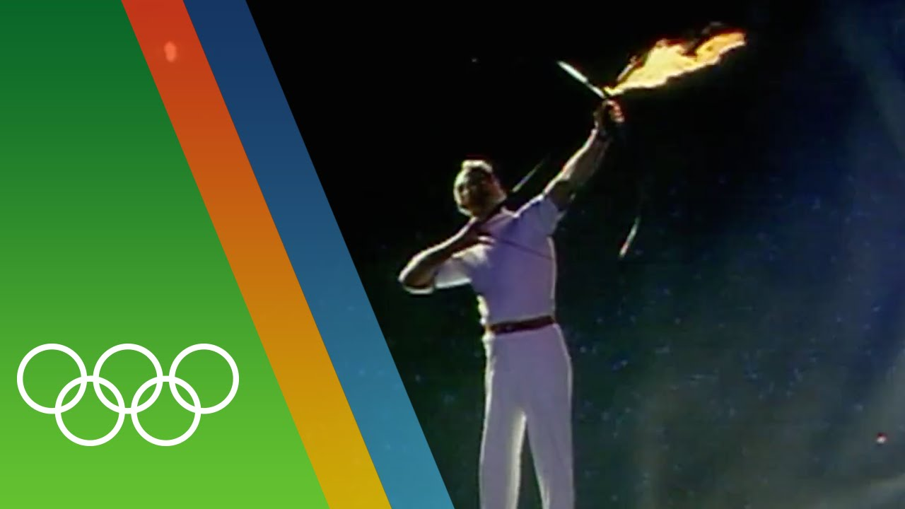 Barcelona 1992 Olympic Torch Lighting | Epic Olympic Moments - YouTube for Olympic Torch Fire  584dqh