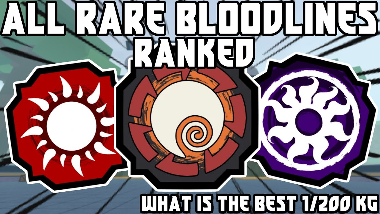 ALL *RARE* Bloodlines RANKED From BEST To WORST | Shindo Life Tier List | Shindo Life