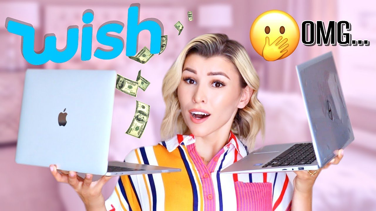 I Bought A FAKE MacBook Laptop From WISH!!!😱💻+ GIVEAWAY!