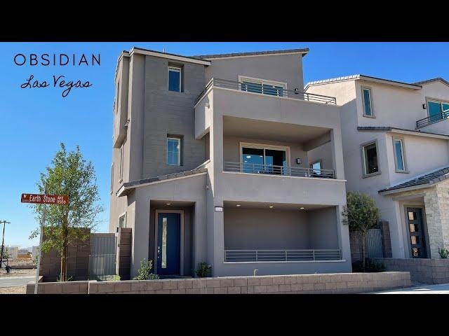 New Modern Homes For Sale Summerlin Las Vegas | $439k+ Multi Decks, 1,355sf Obsidian Woodside Homes