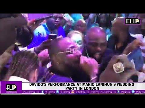 DAVIDO'S PERFORMANCE AT MARIO LANIHUN'S WEDDING PARTY IN LONDON