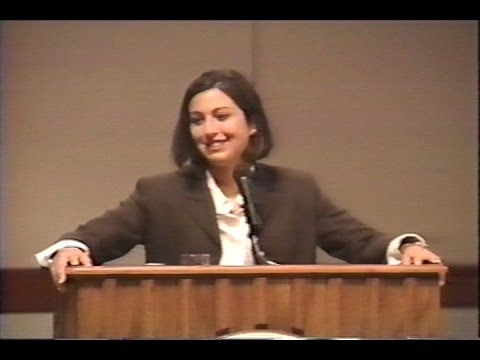 September 1996 - Olympic Gold Medal Swimmer Janet Evans Speaks at DePauw University