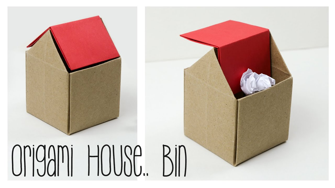 Origami trash bin tutorial diy paper kawaii youtube for Useful things to make out of paper