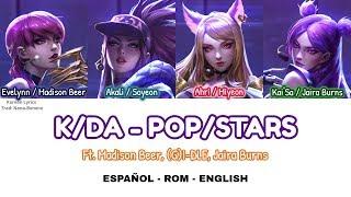 K/DA - POP/STARS - (G)I-DLE, Jaira Burns & Madison Beer | Lyrics: Español - Rom - English