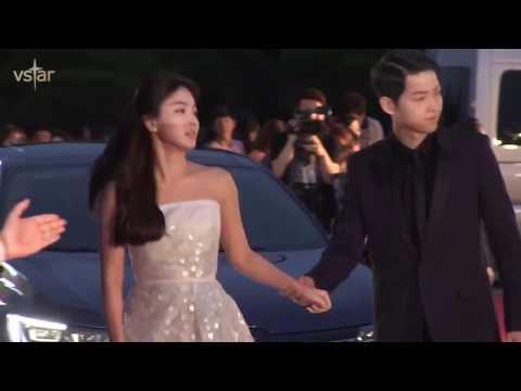 Song Joong Ki & Song Hye Kyo Sweet Moments at 52nd Baeksang Arts Awards