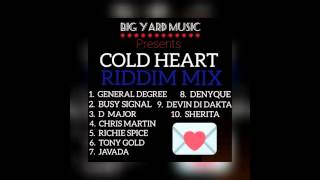 "BRAND NEW!!! ""COLD HEART"" (Riddim Mix) BIG YARD MUSIC (General Degree, Busy Signal, Chris Martin..."