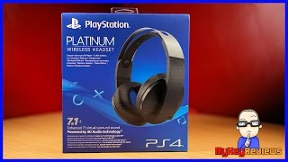 PlayStation Platinum Wireless Headset (PS4)   Unboxing, Set-Up, Mic Test & Review   MyKeyReviews