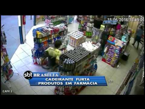 Cadeirante furta produtos em farmácia