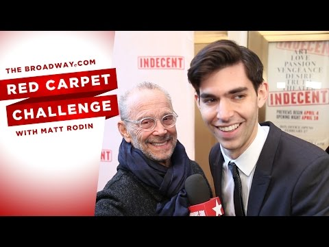 RED CARPET CHALLENGE: INDECENT with Joel Grey, Paula Vogel and more!