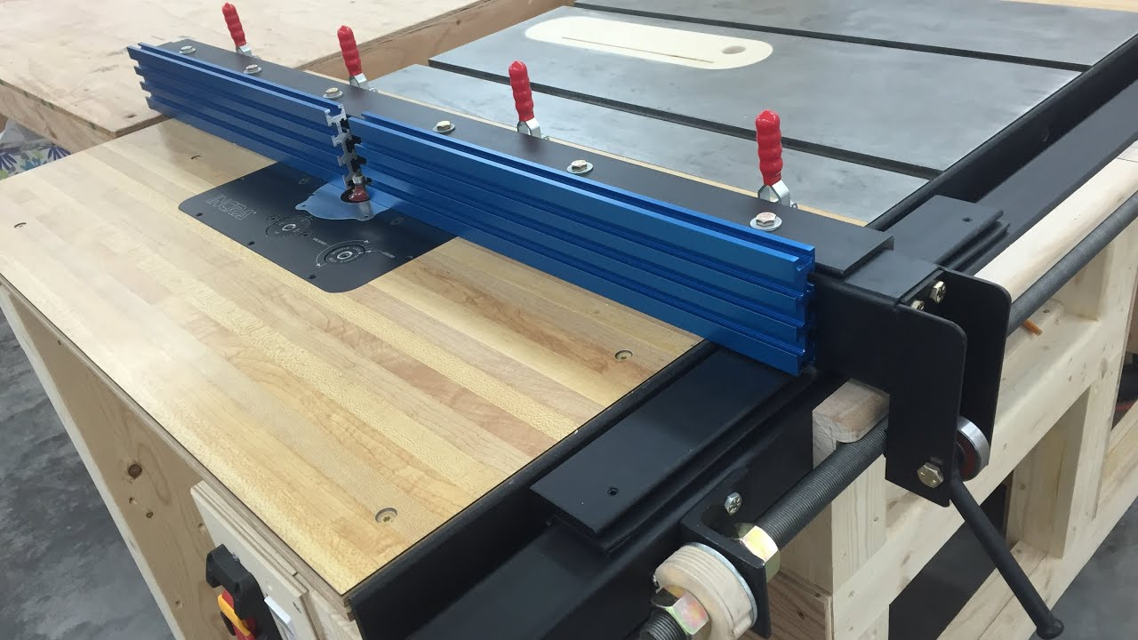 Router table fence for table saw youtube for How to make a router table