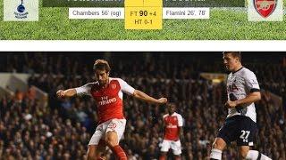 Tottenham 1-2 Arsenal - All Goals & Highlights - [LEAGUE CUP][23-Sep-2015]