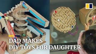Kreative Vaters hausgemachte Spielzeug viral in China