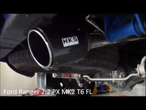 Ford Ranger T6 PX MK2 HKS Legamax muffler with ATP downpipe 2 2
