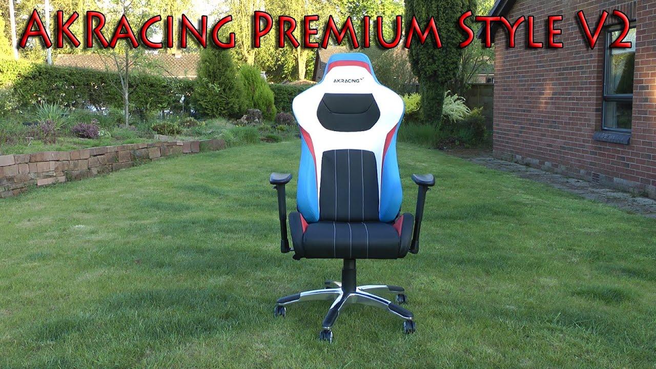 Składanie Fotela Akracing Premium Style Gaming Chair V2 Black Przygnieciony