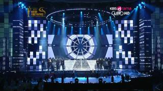 120119 KBS 21st Seoul Music Awards Super Junior-Superman+Mr.Simple