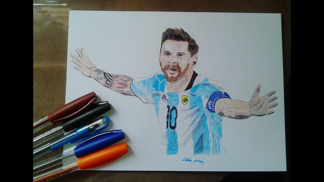 how to draw Lionel mesi  como dibujar a lionel mesi  speed draw