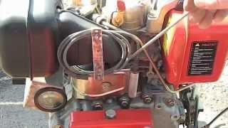 Контроль температуры дизельного двигателя мотоблока Forte 105