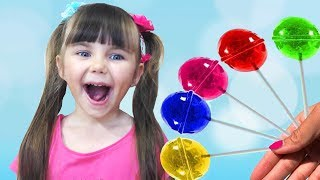 Learn colors with candy Songs Finger  Family Nursery Rhymes collection for Kids and toddlers