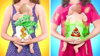 ZENGİN HAMİLE İLE PARASIZ HAMİLE KARŞI KARŞIYA  123 GO GOLD Eğlenceli Hamilelik Anları